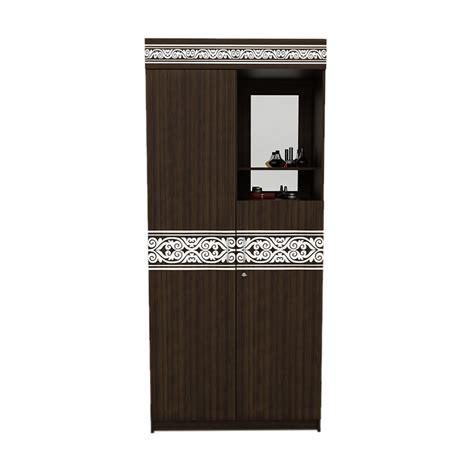 Lemari Pakaian Dua Pintu jual funika vivo vlwd21w brown lemari pakaian dua pintu jabodetabek harga kualitas