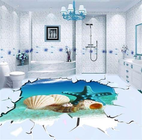 engr vinyl floring 3d أحدث أرضيات حمامات سيراميك ثلاثية الإبعاد قمة الروعة