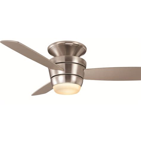 flush mount ceiling fan with remote shop harbor breeze mazon 44 in brushed nickel flush mount