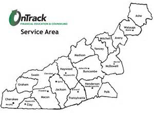 western carolina county map ontrack wnc providing financial education and counseling