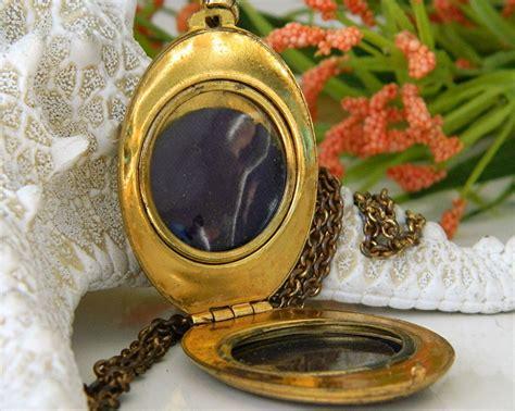gold pattern locket vintage brass locket pendant necklace gold black pattern