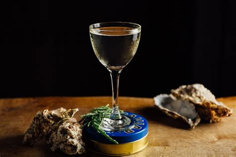 martini oyster oyster and vodka martini recipe great chefs