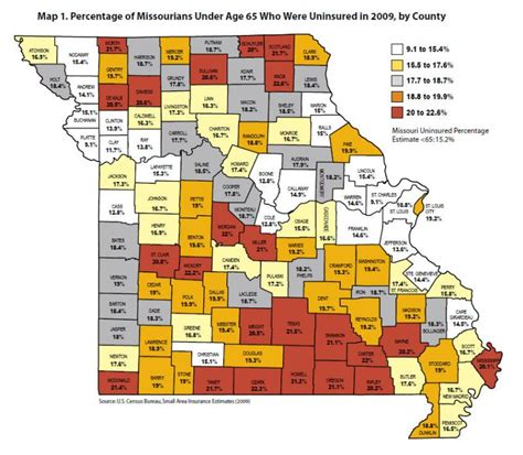 missouri map cares report new federal health care could cover two thirds