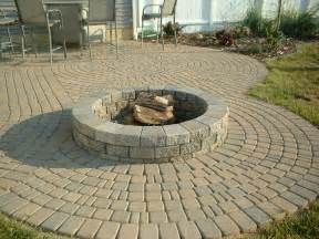Brick Patio With Fire Pit by Brick Pavers Canton Plymouth Northville Novi Michigan