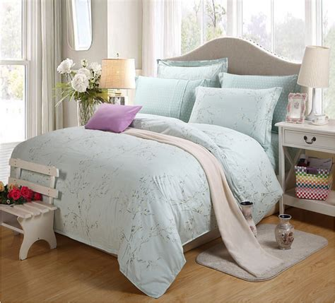 elegant bedroom comforter sets factory direct designer blue bedding set embroidery