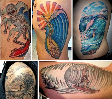 surfer tattoos the most surf tattoos