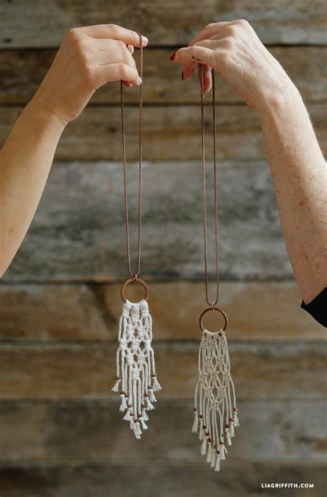 Easy Macrame - simple diy macrame necklace lia griffith