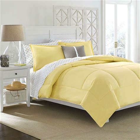 full queen size cotton comforter  solid yellow kids