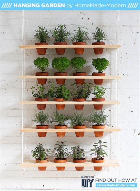 diy hanging herb garden  brings  outdoors
