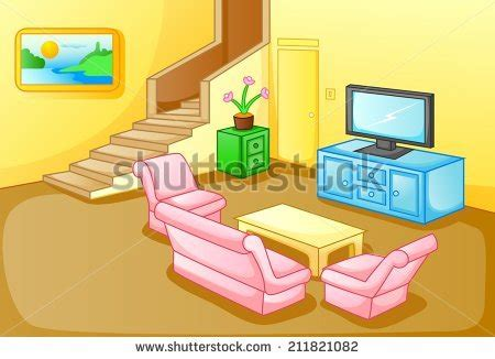 livingroom cartoon cartoon living room stock images royalty free vectors on