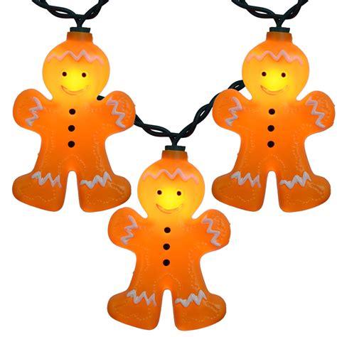 gingerbread man christmas novelty lights