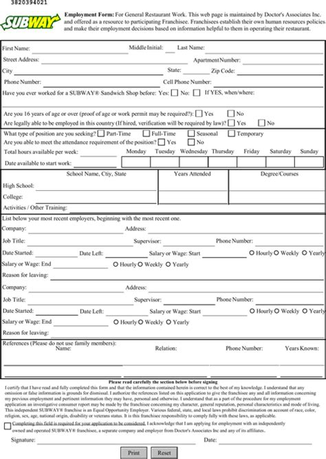 Job application form print out in pdf pictures to pin on pinterest