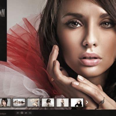 Model Portfolio Website Templates Modeling Portfolio Template
