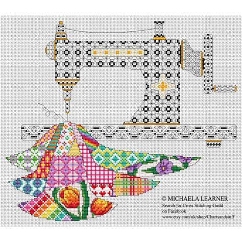 Patchwork And Stitching - patchwork sewing machine cross stitch instant pdf