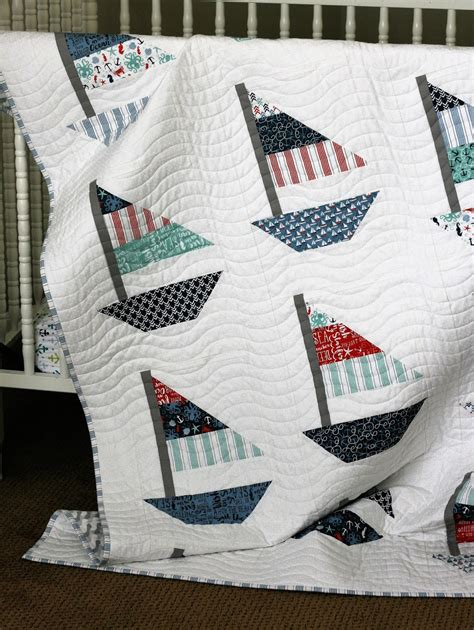 Sailing Quilt by A Bit Biased By The Sea Project Tour Smooth