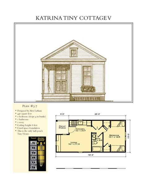 katrina cottage floor plan katrina tiny cottage v small space floor plans pinterest