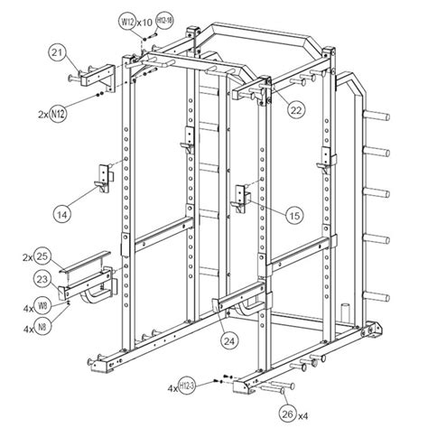 Power Rack Design by Bodymax Zenith Line Cf876 Heavy Duty Functional Commercial Power Rack 1 Chandler Sports