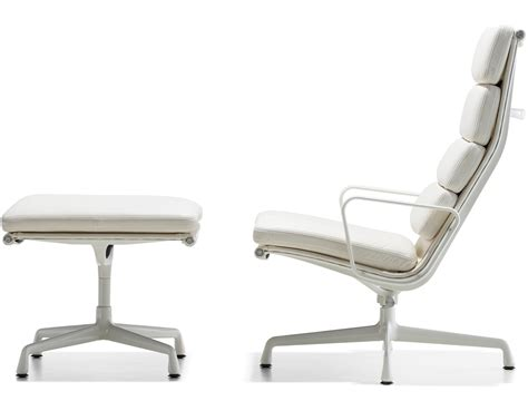 eames soft pad lounge chair eames 174 soft pad lounge chair ottoman hivemodern
