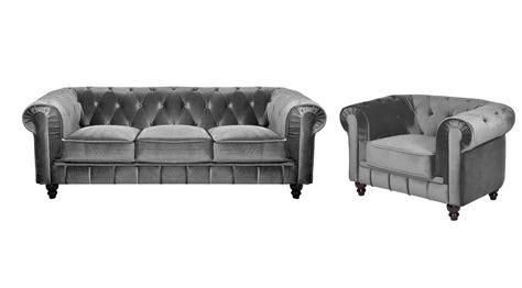 Attrayant Chaise De Jardin Enfant #3: 6885-ensemble-canape-3-places---1-fauteuil-chesterfield-velours-gris.jpg