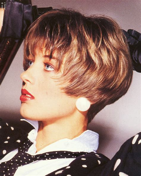 80s bob hairstyle short eighties hairstyle with the hair cut very short at