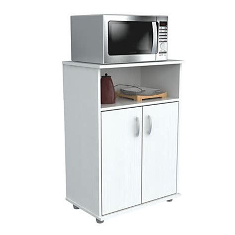 Microwave Storage Cabinet Inval Storage Cabinet With Microwave Stand 3 Shelves 33 H X 24 W X 15 D Laricina White By Office
