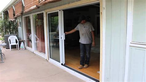 series 200 6 sliding glass door openning slide right 3 panel stacking door