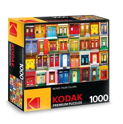colorful doors jigsaw puzzle puzzlewarehouse com kodak premium puzzles colorful montreal doors jigsaw