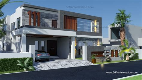 3d front elevation com 500 square meter modern 3d front elevation com 500 yard 350 squair meter