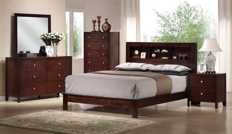 mahogany bedroom furniture set baxton studio montana mahogany brown wood 5pc queen modern