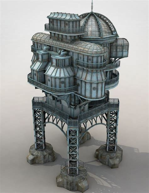 Furniture Building Software steampunk lost house 3d models and 3d software by daz 3d