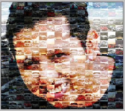 tutorial edit foto mozaik di photoshop teknik dasar membuat efek mozaik dengan background gambar