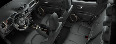 jeep renegade leather interior 2017 jeep renegade versatile interior features