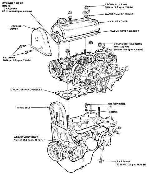92 honda hatchback engine diagram get free image about