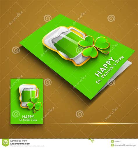 Irish Gift Cards - irish shamrock leaves greeting or gift card royalty free stock photography image
