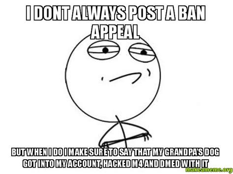 dont  post  ban appeal