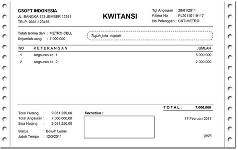 template kwitansi excel calendar template excel