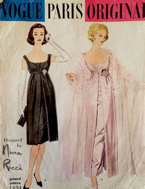 dress pattern vintage vogue 1950s vintage vogue paris original nina ricci evening