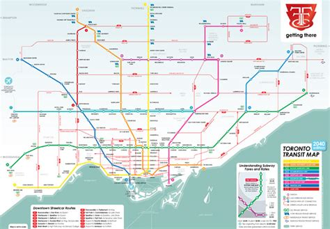 printable map toronto subway what a transit city could look like in 2040