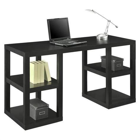 altra furniture parsons deluxe writing desk in black oak