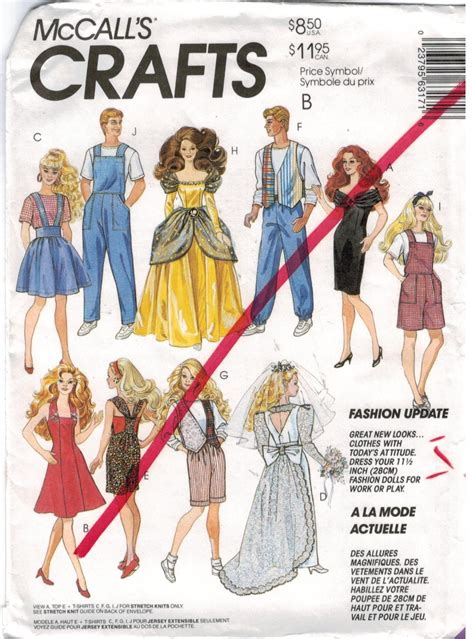 clothes pattern store mccalls pattern 6317 barbie and ken doll clothes
