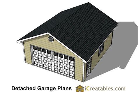 22x24 2 car 1 door detached garage plans 22x24 2 car 1 door detached garage plans