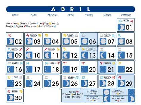 Calendario Abril 2007 Calendario Lunar Abril De 2012