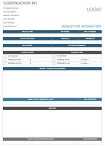 free rfi template construction free request for information templates smartsheet