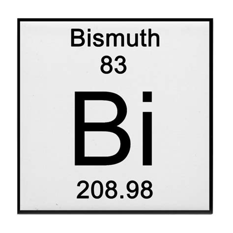 Wall Tile Stickers Kitchen periodic table bismuth tile coaster by science lady