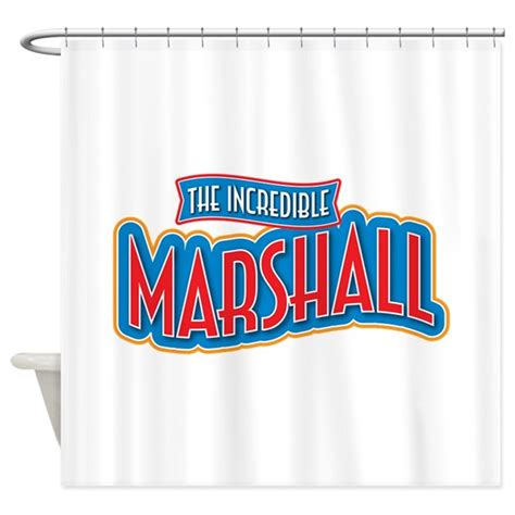marshall curtains the incredible marshall shower curtain by incrediblenames2