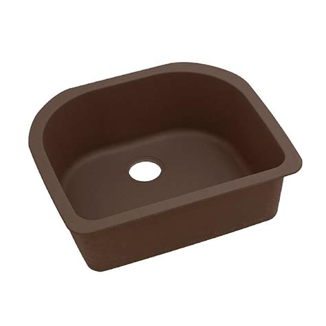 Composite Undermount Kitchen Sinks Elkay Quartz Classic Undermount Composite 33 In Single Bowl Kitchen Sink In Mocha Elgus3322rmc0
