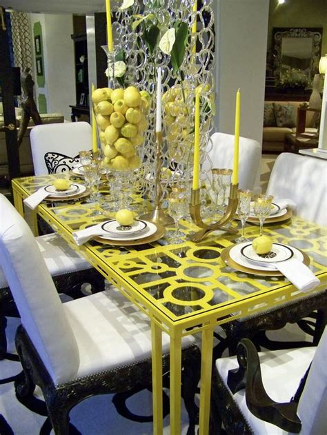 Yellow Dining Room Table Yellow Dining Room Table Marceladick