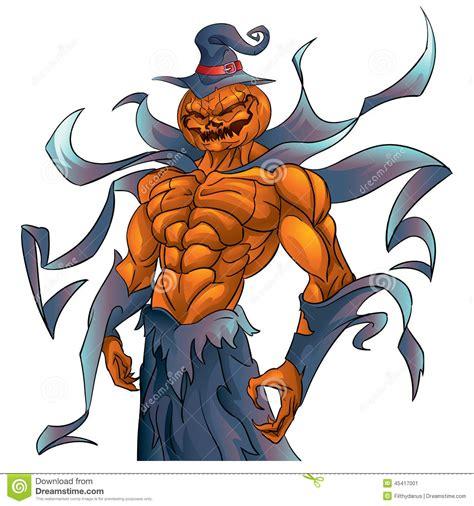 pumpkin demon halloween stock vector image  halloween