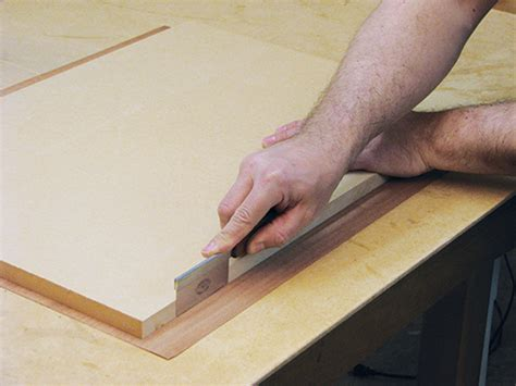 applying  trimming wood veneer edging woodworking