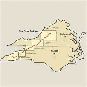 blue ridge parkway map america s byways